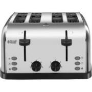 Russell Hobbs 18790 1500 W Pop Up Toaster(Grey, Black)