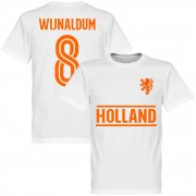 Retake Holland Wijnaldum 8 Team T-Shirt - weiß - 5XL