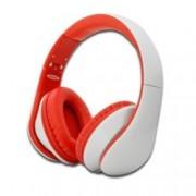 Слушалки Ednet 83056, микрофон, 40мм говорители, дълбок бас, 3.5мм жак, бели