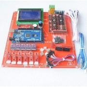 LIGHTHINKING Rampas Reprap 1.4 Kit con Mega 2560 R3 + Heatbed mk2b + 12864 driver LCD + DRV8825 + Endstop + Cables para impresora 3D