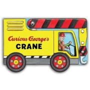 Curious George's Crane (Mini Movers Shaped Board Books), Hardcover