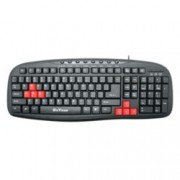 Клавиатура DeTech DE6090, мултимедийна, USB, черна