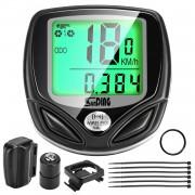 Calculator Biciclete Wireless Rezistent la apa cu LCD si 16 Functii cod 8566