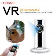 LOOSAFE Wireless Mini Camera 180 Degree IP Cam Wireless WIFI Video Surveillance 2MP HD WI-FI Home Security Surveillance Camera