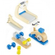 Hape - Happy Family Doll House - Furniture - Home Gym Playset