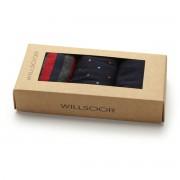 3 darabos férfi zokni szett sötétkék-piros színben 9940