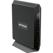 NETGEAR - Nighthawk Dual-Band AC1900 Router with 24 x 8 DOCSIS 3.0 Cable Modem - Black