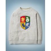 Mini Grau Sweatshirt mit Hogwarts-Wappen Jungen Boden, 104, Grey