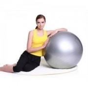 Топка за йога Bodyflex Anti Brust, 65 см., сива, BF-YBA65
