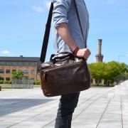 Delton Bags Braune Ledertasche für den täglichen Bedarf