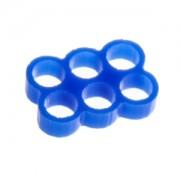 Clema E22 Stealth cu 6 sloturi pentru prinderea cablurilor, latime slot 4mm, culoare albastra