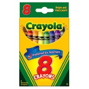 Crayola : Classic Color Pack Crayons, Wax, Standard Size, Peggable Tuck Box, 8 Colors/Box : Sold As 2 Packs Of 1 / Total Of 2 Each