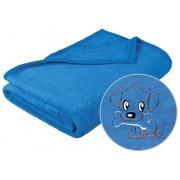 Brotex Detská micro deka 75x100cm modrá s výšivkou