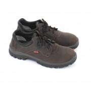 EMMA ZOLDER Veiligheidsschoenen Lage Werkschoenen S3 - Bruin - Size: 42