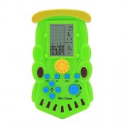 JXD Kids Tetris Console Built-in 23 Games Game Handheld New Style Electronic Brick Game (GM01018Green)