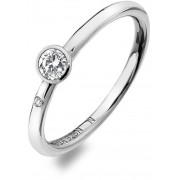 Hot Diamonds Inel de argint de lux cu topaz și Willow DR206 diamant 54 mm