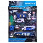 Set masinute vehicule si accesorii decor politie interventii set joaca