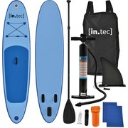 [in.tec]® Tabla de surf hinchable remar de pie Paddle Board 305 x 71 x 10cm Tabla de SUP de aluminio con remo y bomba - Azul