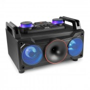 "Fenton Медиен плейър MDJ110, USB, SD, bluetooth, AUX-In, 120 W усилвател, 6,5"" woofer, RGB LED (Sky-178.306)"