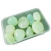 eshoppee 200 gm Green Onyx Stone Tumble 100% Natural Genuine Original Tumbled kit, Crystal Healing Gemstones (Green onex)