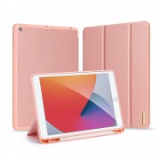 DUX DUCIS Domo Series Cloth Skin Tri-fold Stand PU Leather + PC Smart Case for iPad 10.2 (2019) - Rose Gold
