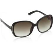 Farenheit Over-sized Sunglasses(Brown)