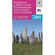 Wandelkaart 008 Landranger Stornoway & North Lewis | Ordnance Survey