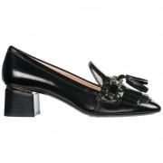 Tod's Decolletes decoltè scarpe donna con tacco pelle double t