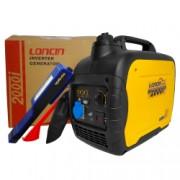 Generator invertor portabil Loncin LC 2000i tip inverter 1.8 kW monofazat 4 CP + Lanterna LED magnetica AgroPro
