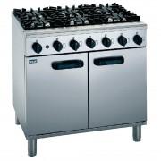 Lincat Silverlink 600 Natural Gas 6 Burner Oven Range SLR9/N
