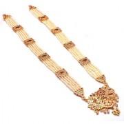 Jewar Mandi Necklace Gold Plated Kundan Pearl Polki Ad Cz Gemstones Jewelry for Women Girls
