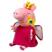 Figurina de plus Peppa Pig 15 cm Zana Printesa Peppa
