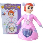 OH BABY 3D LIGHT MUSICAL POWER WITH AUTOMATIC SENSOR PINK COLOR 3d Dancing Princess Doll Musical Toy For Kids SE-ET-25