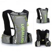 LOCAL LION bicicleta mochila / bolsa de pesca de senderismo - gris (20 ~ 25L)