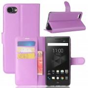 Para BlackBerry Motion Litchi Texture Horizontal Flip Funda De Cuero Con Soporte Y Ranuras Para Tarjetas Y Cartera (purpura)