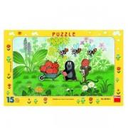 Kisvakond útra kel 15 darabos puzzle