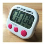 Digital Cocina Temporizador Alarma Electronica Respaldo Magnético Con Display LCD Para Cocinar, Hornear Juegos Deportivos Office (magenta)