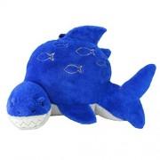 Animal Adventure Soft Landing Nesting Nooks Respaldo con diseño de Dinosaurio, Tiburón, Azul, Una Talla