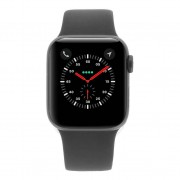 Apple Watch Series 4 - caja de aluminio en gris 40mm - correa deportiva negra (GPS+Cellular)