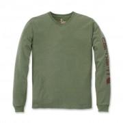 Carhartt EK231 Sleeve Logo T-Shirt - Relaxed Fit - Olivine Heather - L