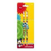 Set 2 creioane + radiera Mickey Mouse