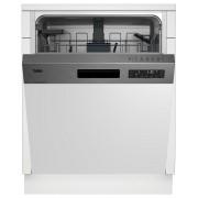 Masina de spalat vase Beko DSN26420X, semi incorporabil, A++, pro smart inverter, latime 60 cm, 14 seturi, 6 programe, inox
