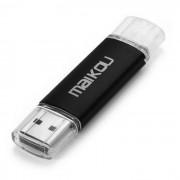 MaiKou 8GB Serpientes Micro USB OTG USB 2.0 Flash Drive - Negro