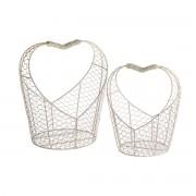 Set de coșulețe metalice Hearts, 2 buc