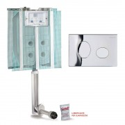 Cassetta Di Scarico Da Incasso Pucci Eco 9 L 4 L Con Placca 80130552