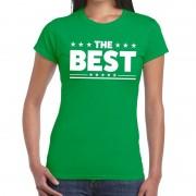 Bellatio Decorations The Best tekst t-shirt groen dames S - Feestshirts