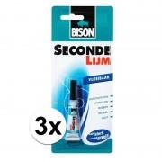 Geen 3x Power glue alles lijm / secondelijm 3 gram