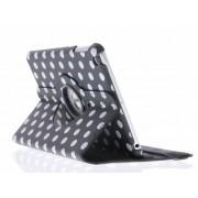 Zwarte 360° draaibare tablethoes met polka dot design voor de iPad Mini / 2 / 3