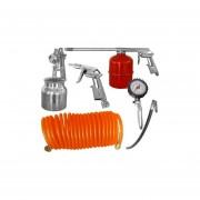 Kit Set De Compresor Aire 5 Piezas + Accesorios Inflador Pintar-Multicolor