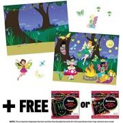 Fairies: Reusable Sticker Pad + FREE Melissa & Doug Scratch Art Mini-Pad Bundle [86035]